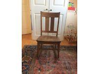 Small, stylish rocking chair - solid oak