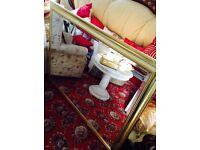 Large Gold Mirror, Beveled Edge.