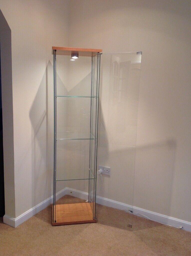 Detolf Ikea Display Cabinets X 2 Light Oak In Galston