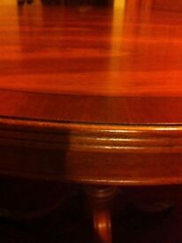 Yew extendable dining table