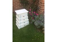 Bed side table / storage / up cycle/ shabby chic / Annie Sloane