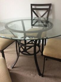 Dinning table and four chairs
