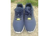 Dark Blue Adidas Flux, Size 11 (spare white laces included)