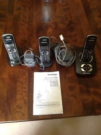 Telephone Answering system with 3 phones