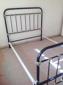 Vintage cast iron bed frame, Complete the look of your vintage Bedroom with this lovely french bed