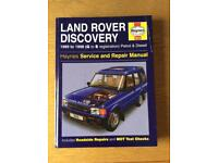 Land Rover Discovery 1989-98 Haynes manual