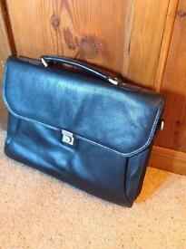 Pierre Cardin leather briefcase