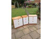 Three matching sets of drawers