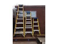 Set of Tradesmen Fibreglass step ladders