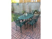 Beautiful metal garden table and chairs