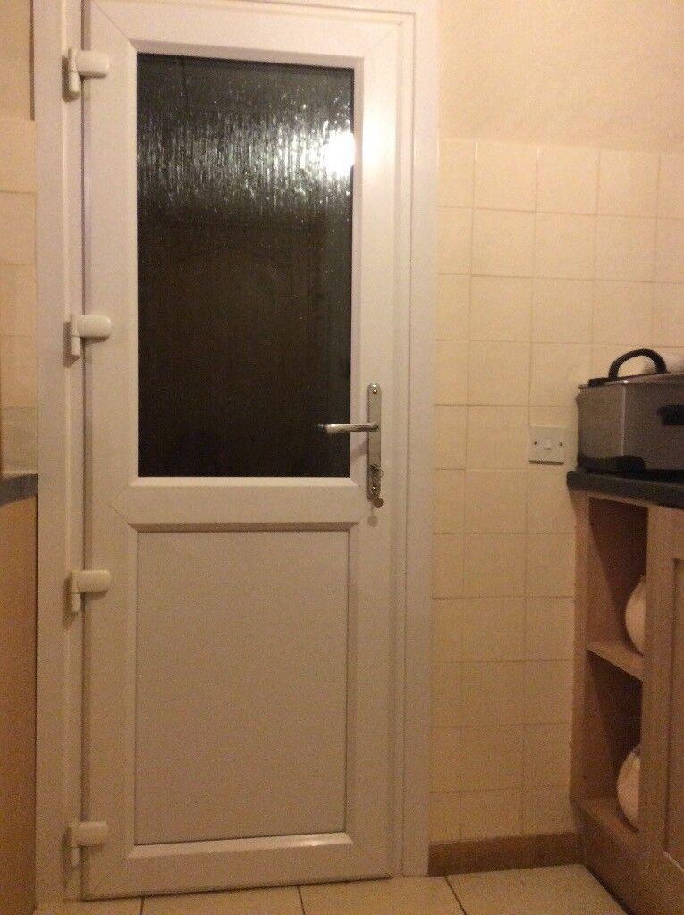 White Double Glazed Exterior Door