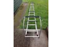 A Long 18 Rung Roof Ladder