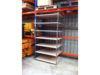 8 TIER INDUSTRIAL WAREHOUSE GARAGE SHED SINGLE BAY RAPID RACKING SHELVING UNIT