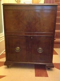 Vintage Canadian Drinks Cabinet on Castors