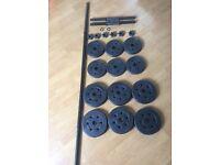 Vinyl Barbell and Dumbbell Set - 25kg