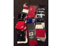 Job lot of football and rugby socks 200 in total