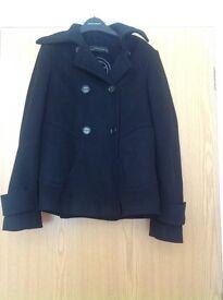 Black Ladies Coat from ZARA