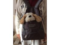 Front carrier for puppy or small dog
