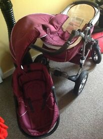 babybus siege auto-go pram and baby carrier