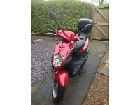 Sym Symply 50cc red moped. Registered November 2014. Good condition.