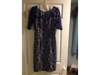 Beautiful blue lace occasion dress