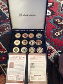 Westminster Ancient Egypt gold plated coin collection