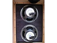 Two Celestion G12-75T 8 Ohm guitar 12 inch cones.