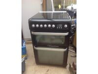 Dual fuel free standing cooker
