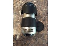 NIKON DX Lens 55 - 200 - in excellent condition with lens covers and black felt carrying bag