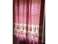 """Girls CUPCAKES tab curtains 72""""x 53"""" by NEXT"""