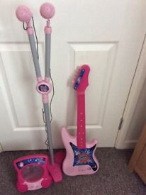 Child guitar mikes and amp.