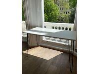 New & Unused - Nordic Minimal White Wood Desk
