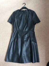 F&F ladies black leather look dress