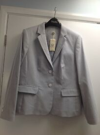 Stylish (unworn) Blue & White striped Blazer - Size 12