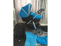 Silvercross pioneer Pram full travel system