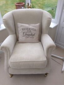 Cream Armchair Excellent Condition