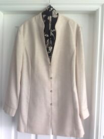£80 (Ono) Ladies Jacques Vert jacket,blouse,scarf,trousers. Cream & Black. Worn once.