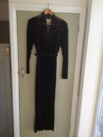 A Janice Wainwright Black Evening Dress