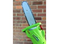 Cordless electric extendable pruner with chain saw cutter