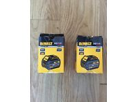 Brand New 2x DEWALT DCB546 XR FLEXVOLT CONVERTIBLE 18V/54V LITHIUM-ION 6.0AH BATTERIES