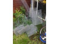 Job lot Galvanised chicken wire mesh