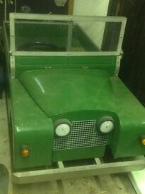 Land Rover battery powered scaled series one landrover model