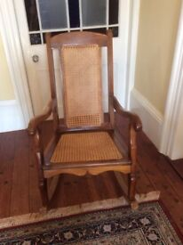 Wooden rocking chair from Nepal