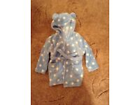Blue dressing gown 12-18months