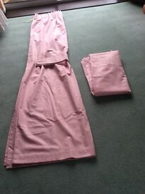 A Pair of Pale Pink Curtains