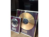 ROD STEWART NEVER A DULL MOMENT/ANGEL MUSIC INDUSTRY GOLD & SILVER AWARD DISCS TO DRUMMER M.WALLER