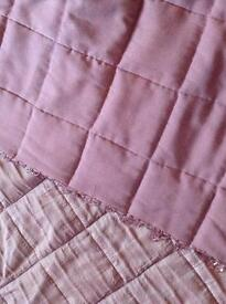 Laura Ashley Purple Mia Throw for Double Bed