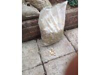 Decorative garden stone chippings