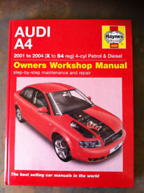 Haynes Workshop Manual For Audi A4 01-04