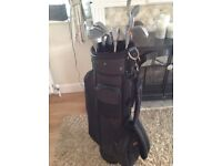 Full set of pro- tour 2 golf clubs and bag